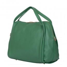 Evelyn, női természetes bőr táska, zöld