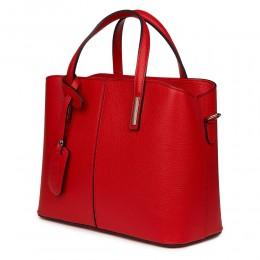 Gianna, természetes bőr táska, piros
