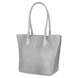 Ava, alkalmi táska, természetes bőrből, szürke