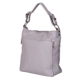 Lucia női, természetes bőr táska, szürke