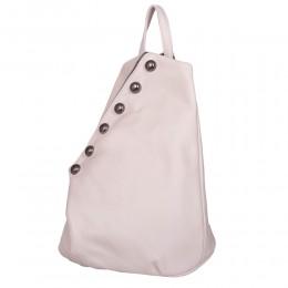 Bubble, természetes bőrből készült hátizsák, krémszínű