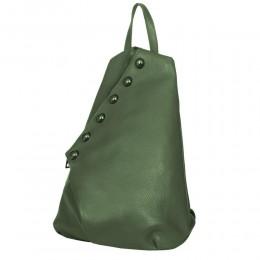 Bubble, természetes bőrből készült hátizsák, zöld
