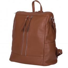 Marco, természetes bőrből készült hátizsák, konyakszín